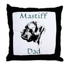 Mastiff Dad 1 Throw Pillow