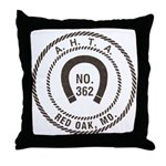 Red Oak Vigilantes Throw Pillow