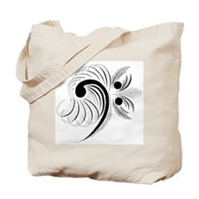 Cute Bass clef Tote Bag