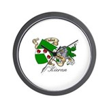O'Kieran Family Crest Wall Clock