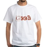 Geek White Tee