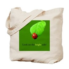 2-sided Red Ladybugs Bright Side Tote Bag