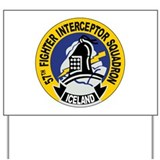 57th Interceptor Squadron Yard Sign