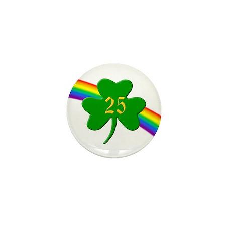 25th Shamrock Mini Button