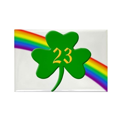 23rd Shamrock Rectangle Magnet (10 pack)