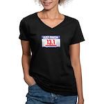 13.1 - Just FINISH bib Women's V-Neck Dark T-Shirt