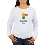 USA Soccer Chick Women's Long Sleeve T-Shirt