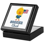 USA Soccer Chick Keepsake Box