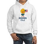 USA Soccer Chick Hooded Sweatshirt
