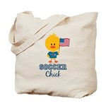 USA Soccer Chick Tote Bag