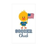 USA Soccer Chick Sticker (Rectangle 10 pk)