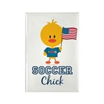 USA Soccer Chick Rectangle Magnet (100 pack)