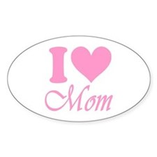 I Heart Mom: Sticker (Oval)