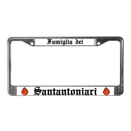St. Anthony Family License Plate Frame