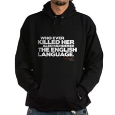 Murdered the English Language Hoodie (dark)