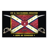 1st &amp;amp; 3rd Florida Infantry Decal