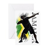 Jamaica - as fast as lightning! - Greeting Card