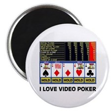 VIDEO POKER IS FUN Magnet