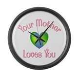 Mother Love at Home Large Wall Clock