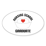 Nursing School Graduate Sticker (Oval)