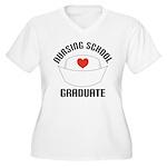 Nursing School Graduate Women's Plus Size V-Neck T