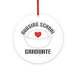 Nursing School Graduate Ornament (Round)