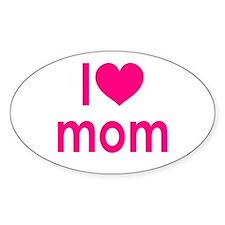 I Love Mom: Sticker (Oval)