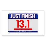 13.1 - Just FINISH bib Sticker (Rectangle)