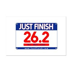 26.2 - Just FINISH bib Mini Poster Print