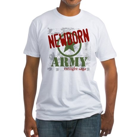 Newborn Army Twilight Fitted T-Shirt