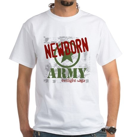 Newborn Army Twilight White T-Shirt