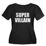 Super Villain Women's Plus Size Scoop Neck Dark T-