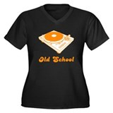 Old School Women's Plus Size V-Neck Dark T-Shirt