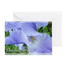 Blue-Violet Bearded Iris Thinking of You Card 5x7