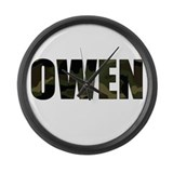 Camo Owen Large Wall Clock