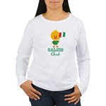 Italian Soccer Calcio Chick Women's Long Sleeve T-