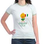 Italian Soccer Calcio Chick Jr. Ringer T-Shirt