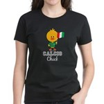 Italian Soccer Calcio Chick Women's Dark T-Shirt
