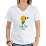 Italian Soccer Calcio Chick Women's V-Neck T-Shirt