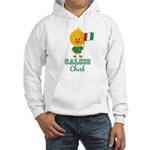 Italian Soccer Calcio Chick Hooded Sweatshirt