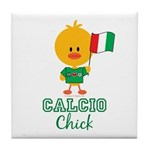 Italian Soccer Calcio Chick Tile Coaster