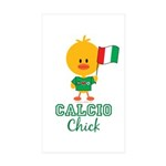 Italian Soccer Calcio Chick Sticker (Rectangle 50