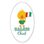 Italian Soccer Calcio Chick Sticker (Oval 10 pk)