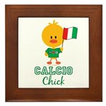 Italian Soccer Calcio Chick Framed Tile