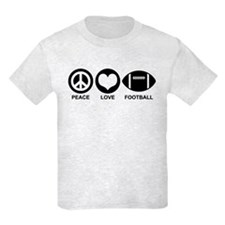 Peace Love Football T-Shirt