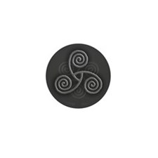 Celtic Triple Spiral Mini Button (10 pack)