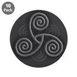 "Celtic Triple Spiral 3.5"" Button (10 pack)"