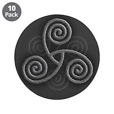 "Celtic Triple Spiral 3.5"" Button (10 pack)"