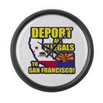 Deport them to San Francisco Large Wall Clock