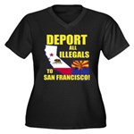 Deport them to San Francisco Women's Plus Size V-N